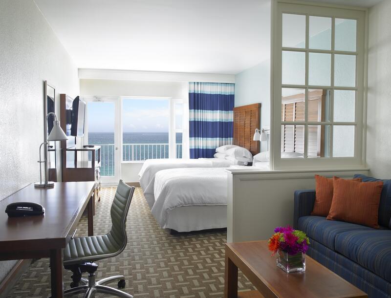oceanfront double bed