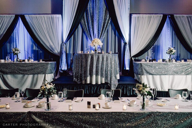 decorated tables for a wedding reception