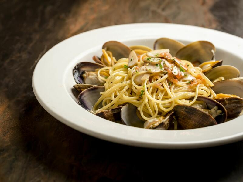 spaghetti dish with oysters