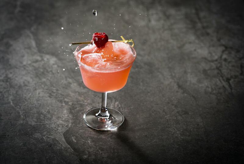 Lychee & Raspberry Fizz Cocktail At Peter Street Kitchen