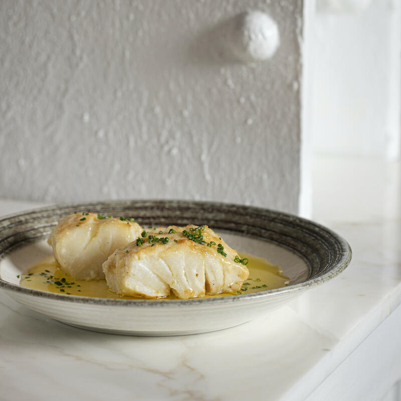 Bloomsbury Street Kitchen - Baked cod with Parmesan and garlic b