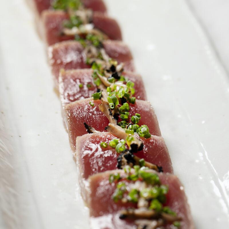 Bloomsbury Street Kitchen Tuna Sashimi Flat Taco With Truffle Ma