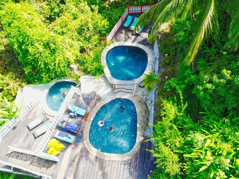 pools in tropical rainforest