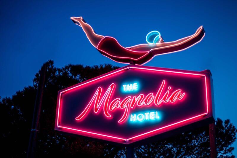 Neon sign at The Magnolia Hotel Quinta do Lago