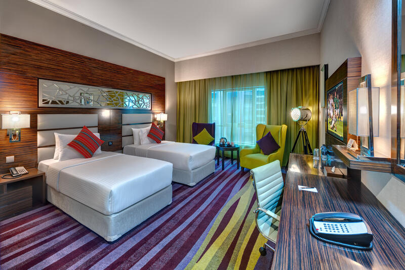 Deluxe Twin Room at Ghaya Grand Hotel Dubai
