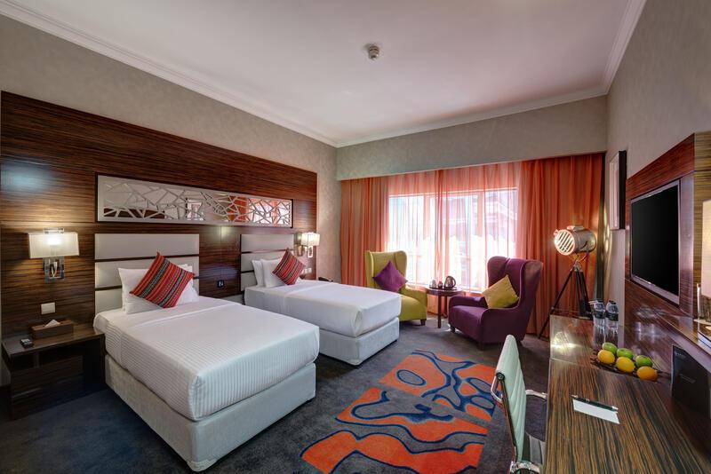 Club Twin Room at Ghaya Grand Hotel Dubai