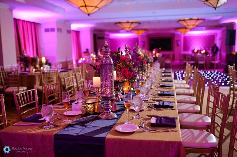 dining table at wedding