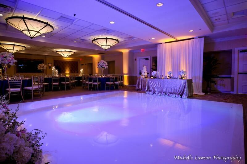 dance floor at wedding venue