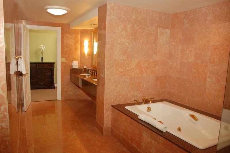 bath tub and bathroom