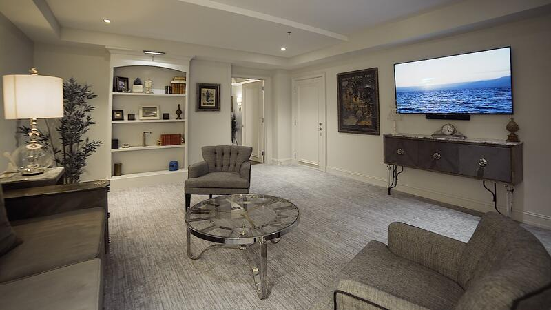 suite with couch and television