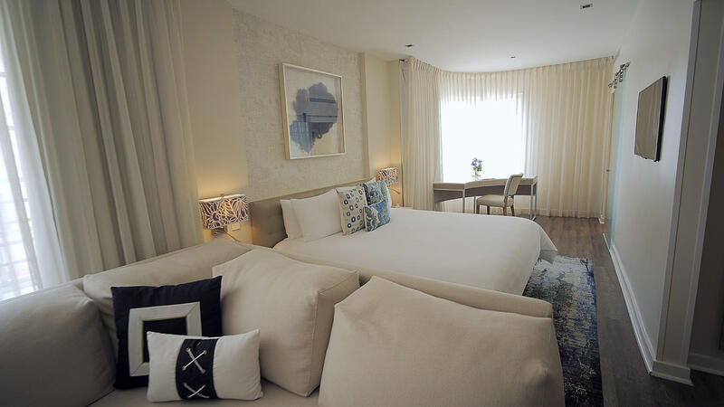bed and couch