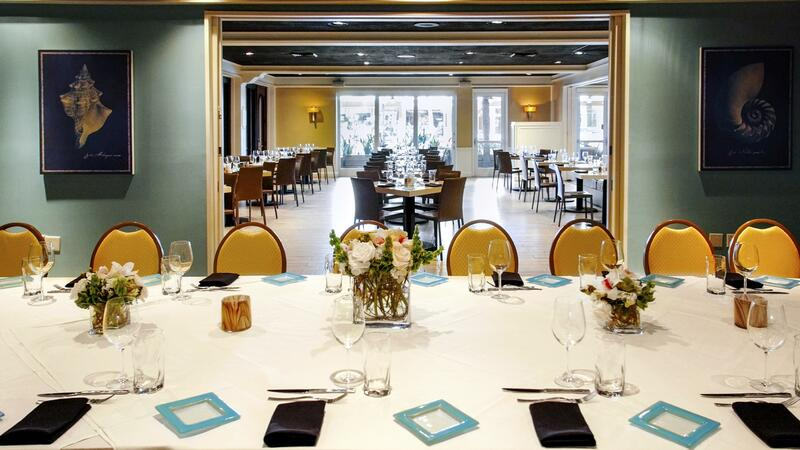 long restaurant table