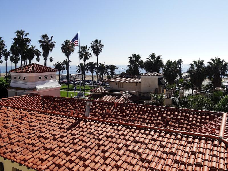 Rooftop view of beach