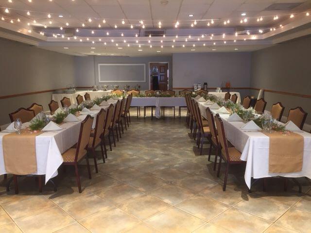 U-Shape Wedding reception setup