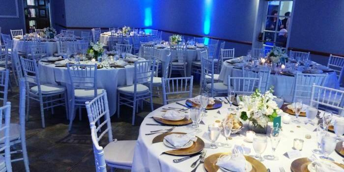 Reception with round table setup