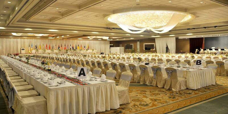 Event set up that features long tables and chairs