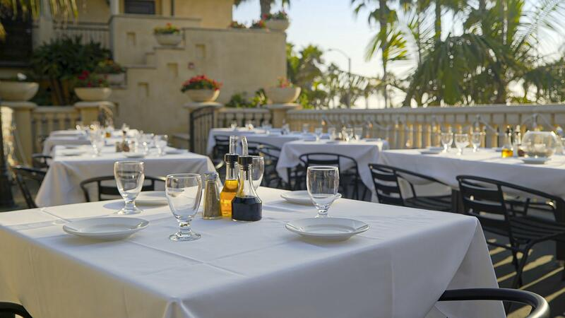 siena restaurant balcony dining and tablescape