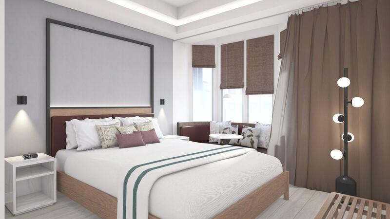 907 Main Guestroom Rendering