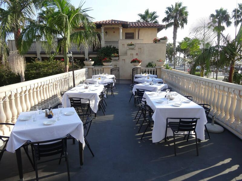 ocean view terrace outdoor dining