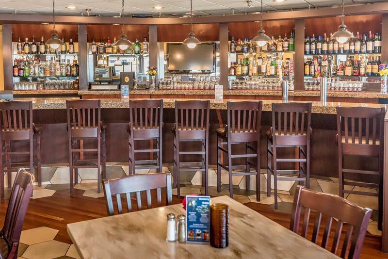 Long bar at Jeremiah's Pub.
