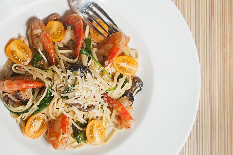 Delicious shrimp and pasta dish