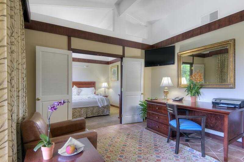 living room with door to master bedroom