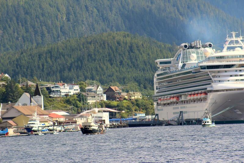 Large cruise ship.