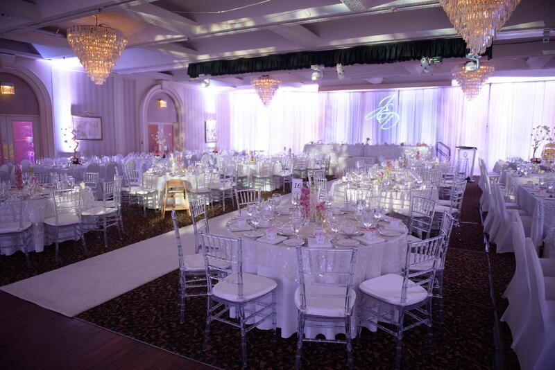 wedding venue with purple color
