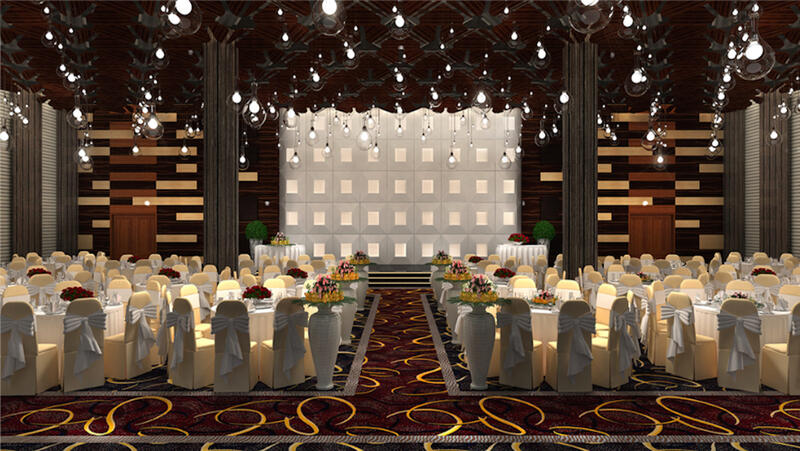 hotel function room with