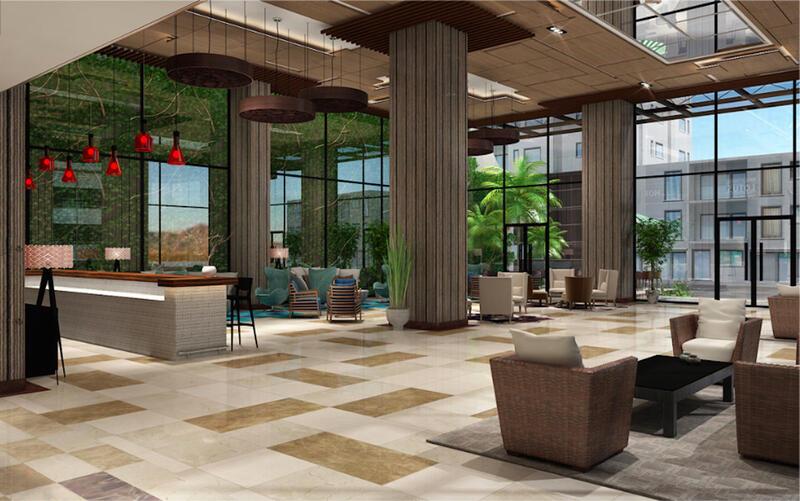 hotel area with reception area