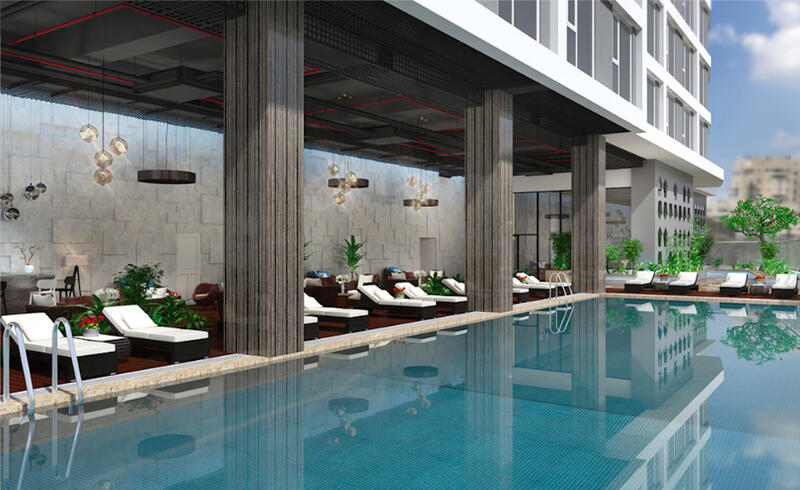 modern outdoor swimming pool