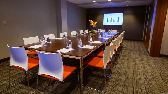 Boardroom set for meeting