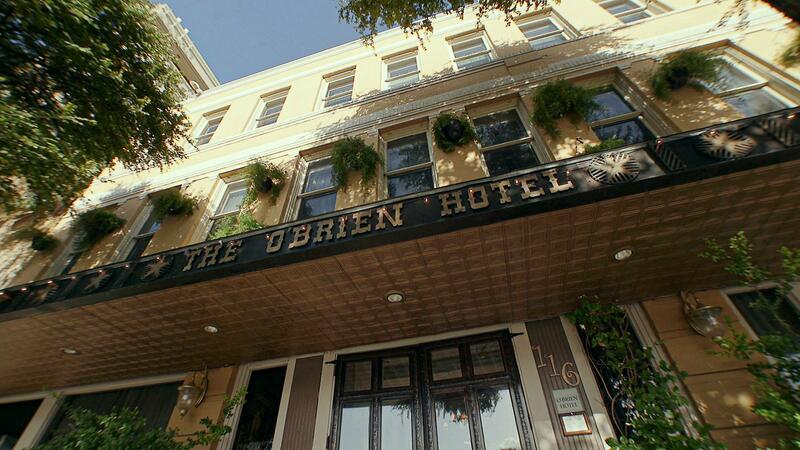 obrien hotel exterior sign close up
