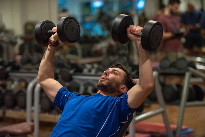 Gym at Ghaya Grand Hotel Dubai