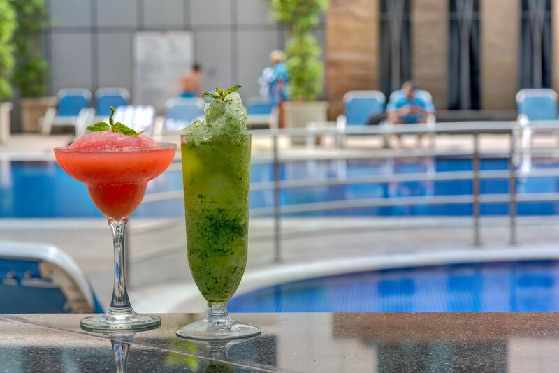 Pool Bar at Ghaya Grand Hotel Dubai