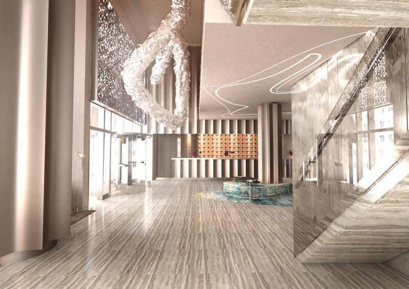 ردهة فندق جوري، من فنادق مروب في الدوحة ، قطر