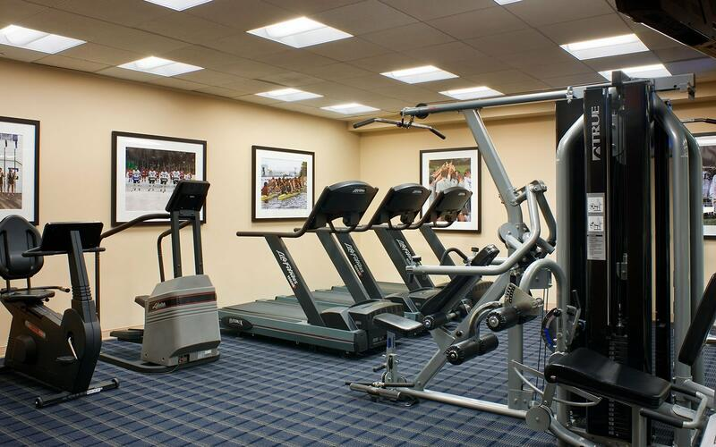 treadmills and gym equpiment in fitness center