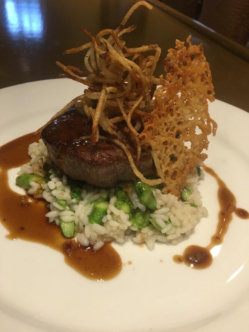 steak and rice dish