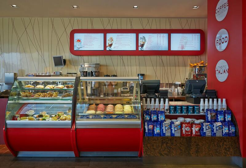 grab and go food and drinks in a restaurant
