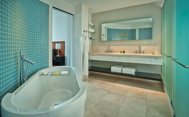 a large tub in a bathroom