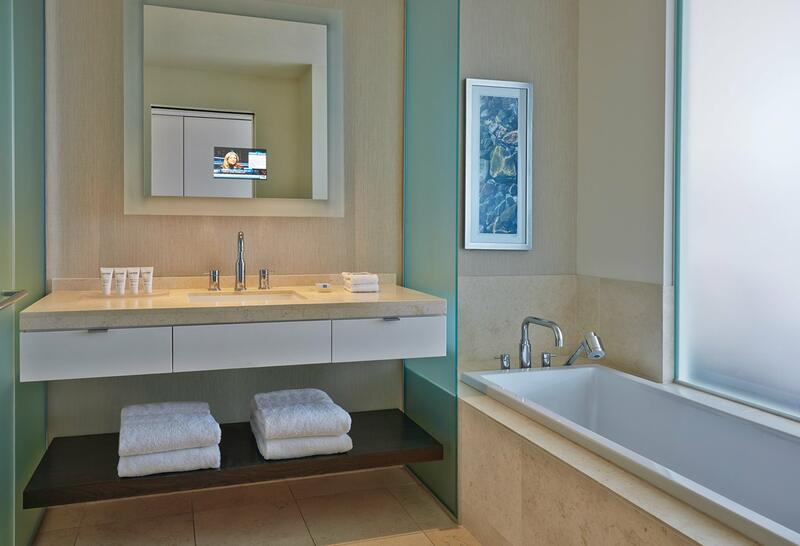 sink and tub in a bathroom