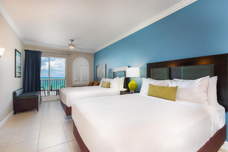 double bed room with ocean view