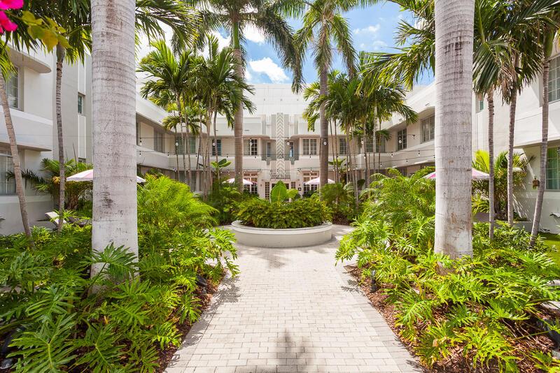 garden entrance to south beach hotel