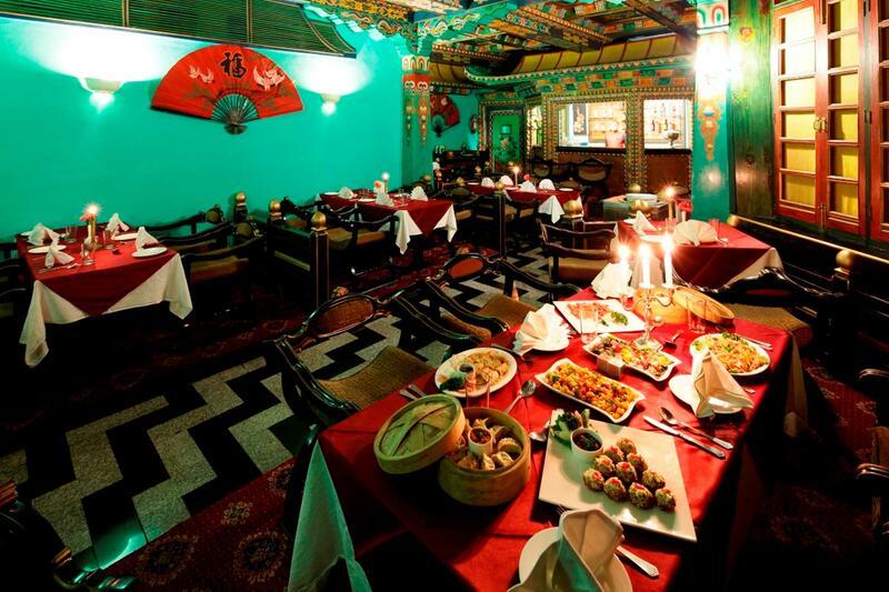 Restaurant at ManuAllaya Resort Spa Manali in Himachal Pradesh
