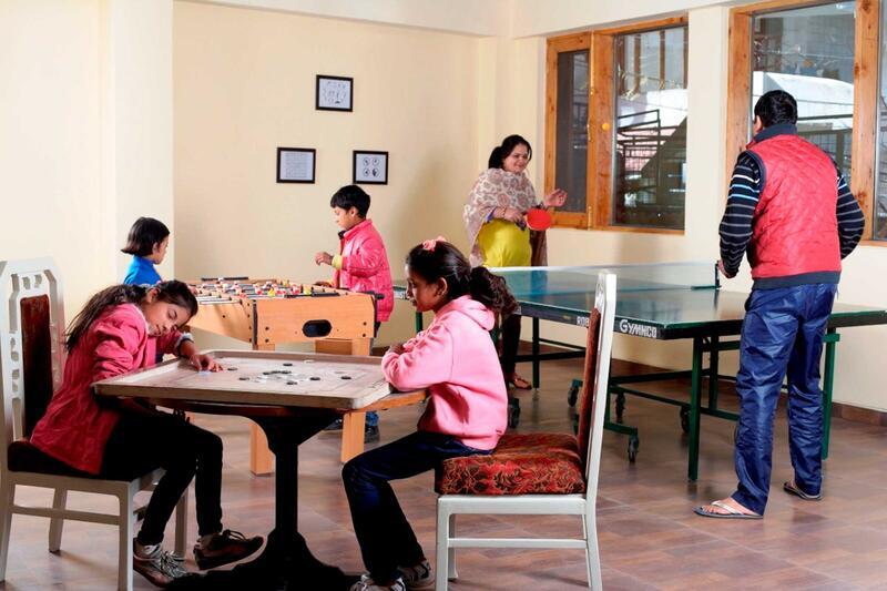 Games room at ManuAllaya Resort Spa Manali in Himachal Pradesh