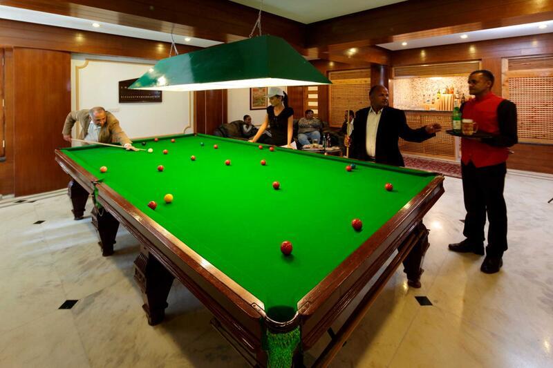 Billiards at ManuAllaya Resort Spa Manali in Himachal Pradesh