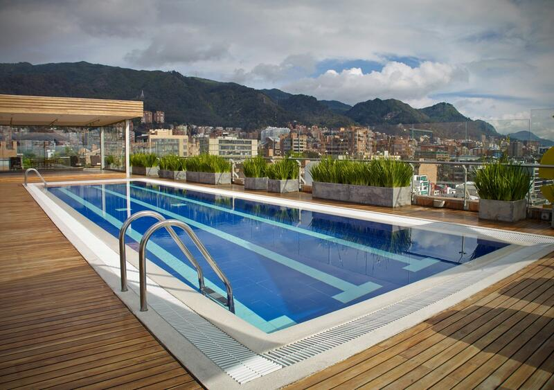 pool during day with view