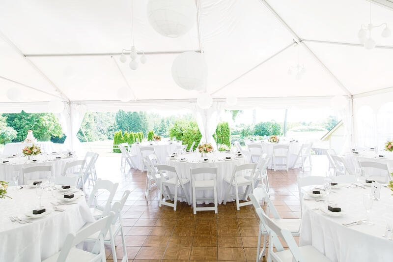 Reception Tent at Stonecliffe