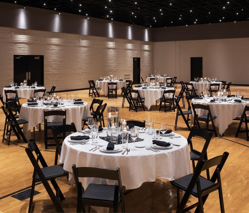 ballroom white and black décor