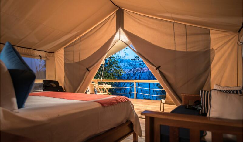 Glamping Tent Suite King Bed Entrance